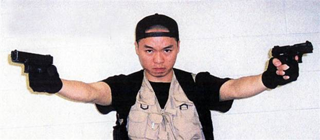 Cho Seung-Hui brazenly poses with his murder weapons